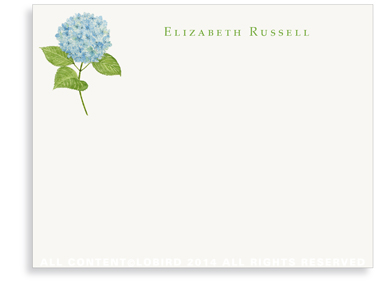 Blue Hydrangea Flat Note Cards