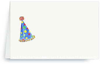 blue polka dot party hat- place cards
