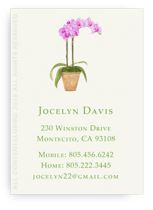Calling card- purple orchid