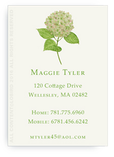 Calling Cards - Green hydrangea