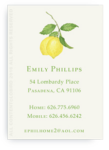 Calling Cards - Lemon Branch