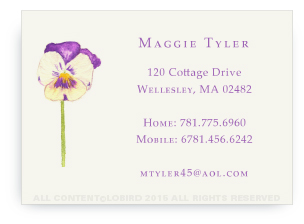 Calling Cards - Pansy