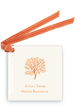 Coral Fan - Orange - gift tags