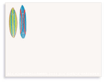 Double Corky Surfboard- non-personalized note cards