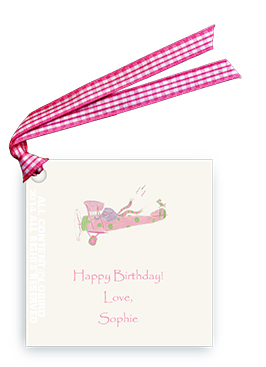 Elephant Flying Plane - Gift Tags