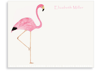 Flat Note Cards - Flamingo
