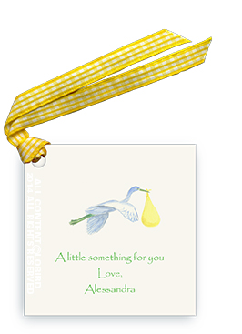 Flying Yellow Stork - Gift Tags