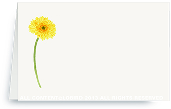 Gerber daisy yellow - Place cards