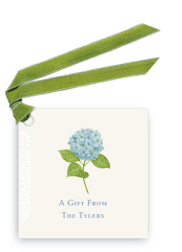 Gift tags- Blue Hydrangea