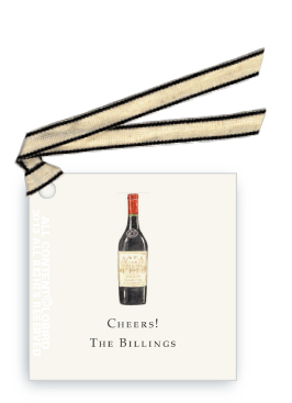 gift tags- bottle vintage red wine