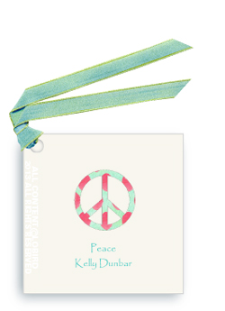 Gift Tags- Ikat Peace Sign