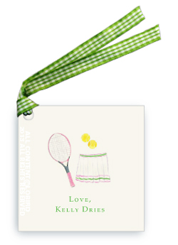 Gift Tags- Tennis Racket with Skirt