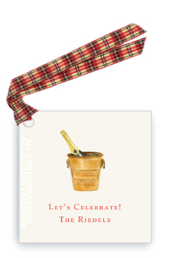 Gift tags- Vintage Champagne Ice Bucket