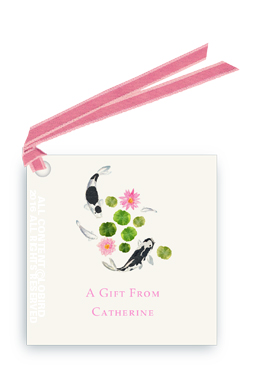 Gift tags with Ribbon - Koi Swimming 1