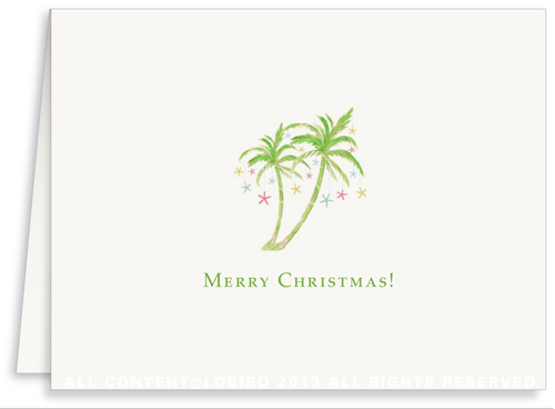 Holiday Greeting Card- Holiday Palm 2