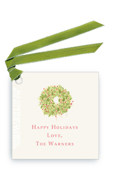 Holiday Wreath - Gift Tags