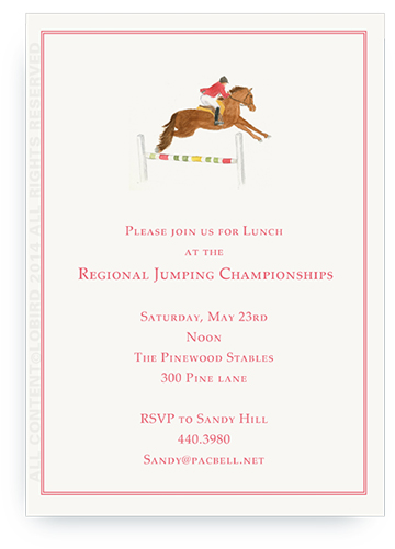 Horse Jumping - Invitations