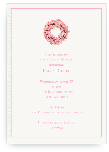 Invitation - Magnolia Wreath