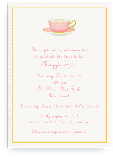 Invitation - Pink Teacup