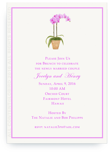 Invitation - Purple orchid