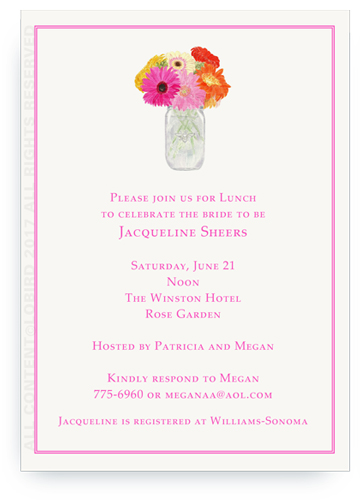Invitation - Vase of gerber daisies