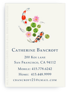 Koi Swimming Calling Cards -2