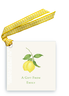 Lemon Branch Gift tag