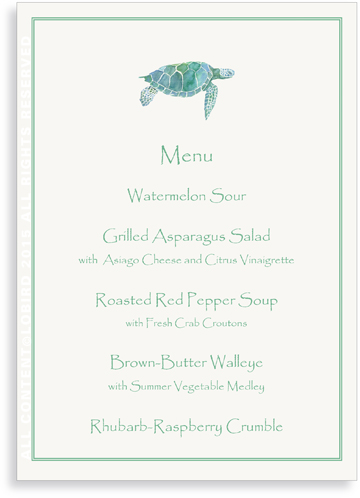 Menu card - Sea Turtle