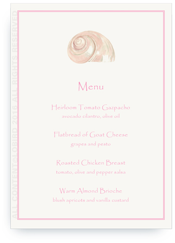 menu cards - turban shell