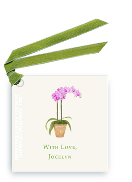 orchid - purple gift tags and favor tags with ribbon