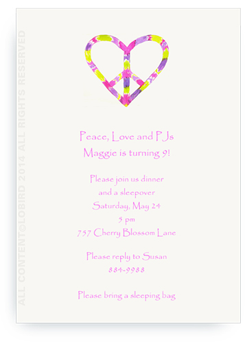 peace heart - invitations