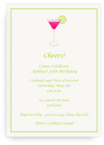 Pink Cosmo - Invitations