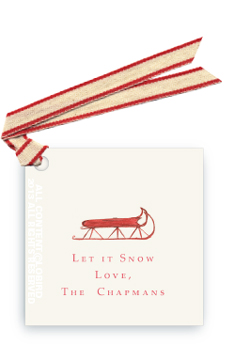 Red Sled - Gift Tags