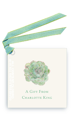 succulent gift tags and favor tags with ribbon