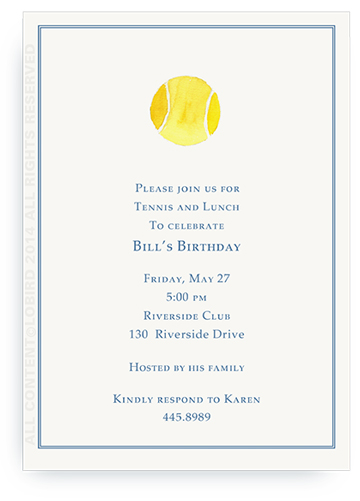 Tennis ball - Invitations