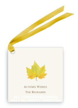Yellow Autumn Leaf - Gift Tags