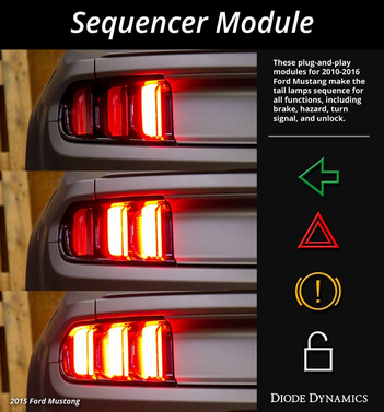 10 16 ford mustang tail light sequencer diode dynamics. Black Bedroom Furniture Sets. Home Design Ideas