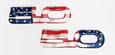 15-17 Mustang 5.0 Emblem Pair American Flag Ford Official Licensed