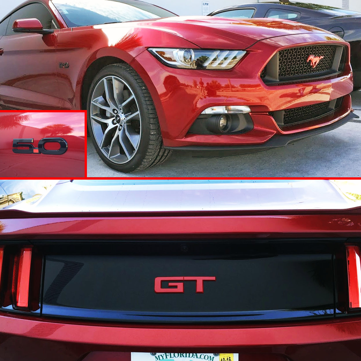 15-17 mustang gt emblem package color coded ford officially licensed