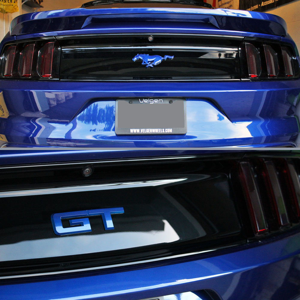 15 17 Mustang Gt Rear Emblem Color Coded Ford Official
