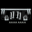 "79-04 Mustang <font face=""serpentinedbol"">Pro-Series</font> � Chrome Moly Double Anti Roll Bar Kit"