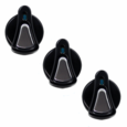 89-04 Mustang Black & Polished Billet AC Knobs