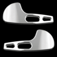94-04 Ford Mustang Billet Flat with Holes Door Handle Kit