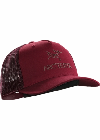 Arc'teryx Logo Trucker Hat Red Beach