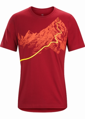 Arc'teryx Mens Afterglo Heavyweight T-Shirt Volcano (Close Out)