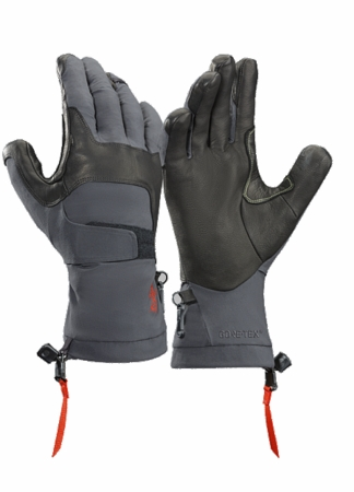 Arc'teryx Mens Alpha FL Glove Graphite/ Cardinal