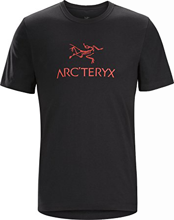 Arc'teryx Mens Arc'word Heavyweight T-Shirt Black/ Cardinal