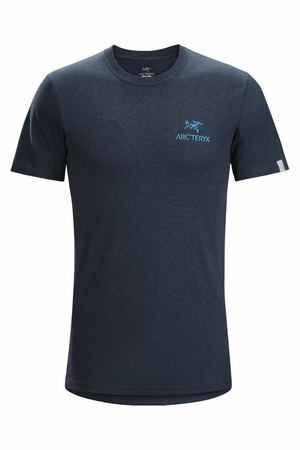 Arc'teryx Mens Bird Emblem T-Shirt Heathered Admiral