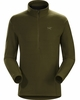 Arc'teryx Mens Delta LT Zip Neck Dark Moss