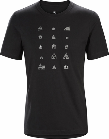 Arc'teryx Mens Hut T-Shirt Black